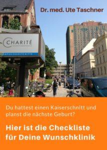 """Bild des Universitätsklinikums Charite mit Text """"Hier ist die Checkliste für Deine Wunschklinik"""""""