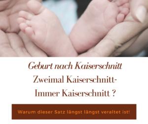 Warum auch nach zwei Kaiserschnitten eine natürliche Geburt möglich ist. Hände halten Babyfüßchen.