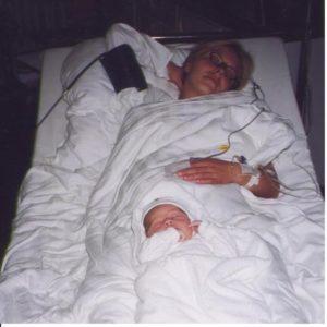 Mutter schlafend