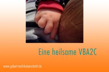 Geburtsbericht heilsame VBA2C, Kinderhand
